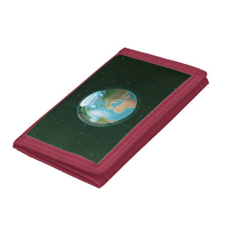 Melting Ice Caps Of Planet Earth. Tri-fold Wallets