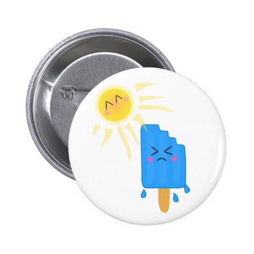 melting ice cream pinback buttons