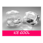 Melting ice cubes post card