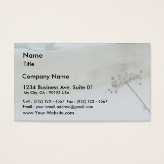Melting Ice On Water Business Card