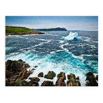 Melting iceberg postcard