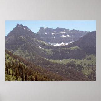 Melting Mountain Snow Poster