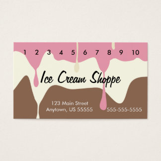 Melting Neapolitan Ice Cream Punch Card