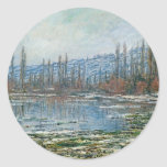Melting of Floes at Vétheuil (1881) Classic Round Sticker