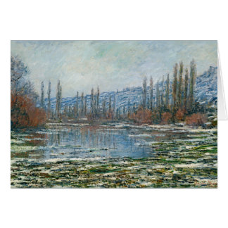 Melting of Floes at Vetheuil - Claude Monet Card