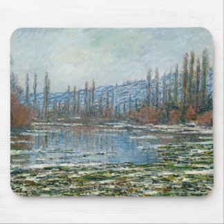 Melting of Floes at Vetheuil - Claude Monet Mouse Pad