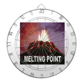 Melting point art dartboard with darts
