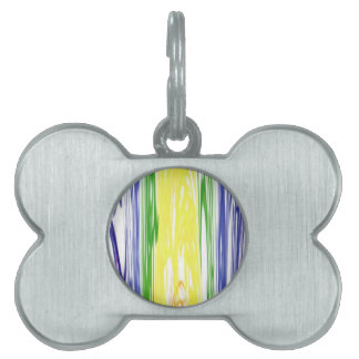 Melting Rainbow Art Design Pet Tag
