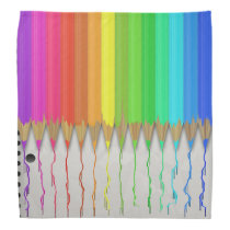 Melting Rainbow Pencils Bandana