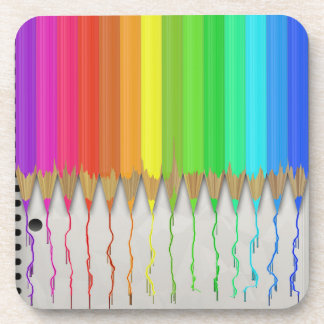 Melting Rainbow Pencils Coaster