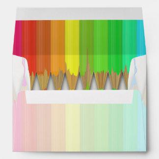 Melting Rainbow Pencils Envelope