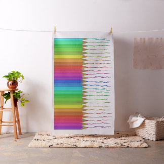 Melting Rainbow Pencils Fabric