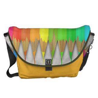 Melting Rainbow Pencils Courier Bags