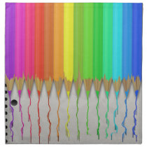 Melting Rainbow Pencils Napkin
