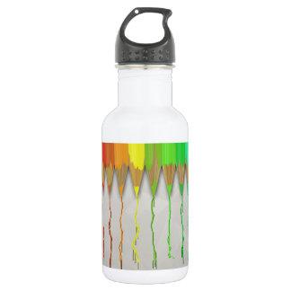 Melting Rainbow Pencils 18oz Water Bottle