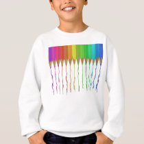 Melting Rainbow Pencils Sweatshirt