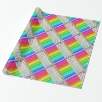 Melting Rainbow Pencils Wrapping Paper