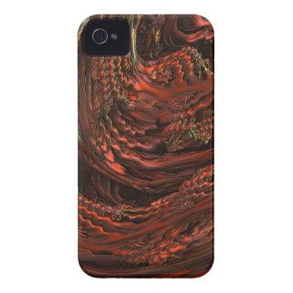 MELTING RED COPPER MANDELBULB 3D. FRACTAL IMG iPhone 4 CASE