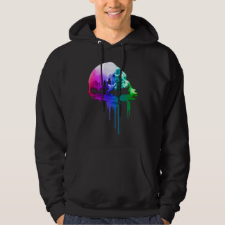 Melting Skull in Vivid Colors Hoodie