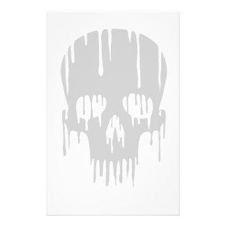 Melting Skull Stationery Design