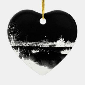 Melting Snow - negative Ceramic Ornament