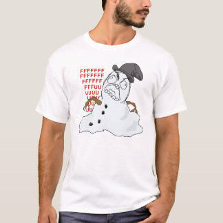 Melting Snowman Rage Meme Shirt