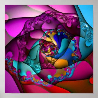 Melting Spiral (12 by 12) Art Print Poster