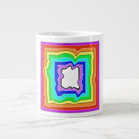 Melting Square Rainbow © 2013 James Warren Giant Coffee Mug
