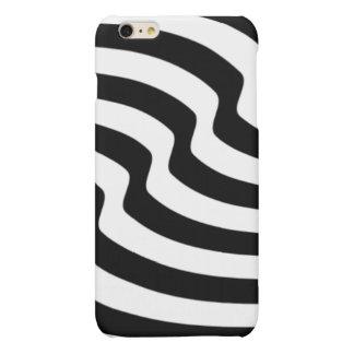 Melting Waves - Black & White Matte iPhone 6 Plus Case