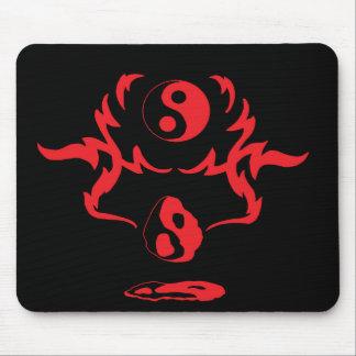 Melting Yin Yang Red Black Urban Tribal Mouse Pad