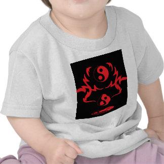 Melting Yin Yang Red Black Urban Tribal T Shirts