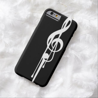 MELTPOINT BLACK White G-Clef Customizable Barely There iPhone 6 Case