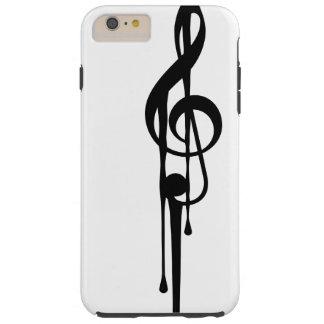 MELTPOINT WHITE Black G-Clef Customizable Tough iPhone 6 Plus Case