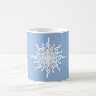 MELTPOINT WINTER Blue Monogram G-Clef Snowflake Coffee Mug