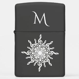 MELTPOINT WINTER Monogram G-Clef Snowflake Zippo Lighter