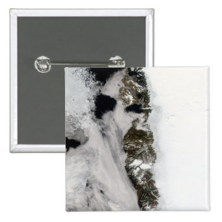 Meltwater ponds along Greenland West Coast 2 Inch Square Button