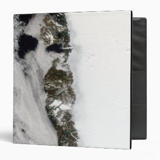 Meltwater ponds along Greenland West Coast 3 Ring Binder