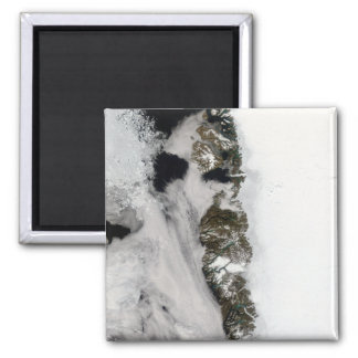 Meltwater ponds along Greenland West Coast 2 Inch Square Magnet
