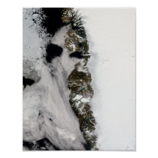 Meltwater ponds along Greenland West Coast Poster