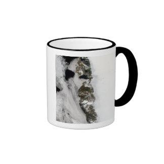 Meltwater ponds along Greenland West Coast Ringer Coffee Mug