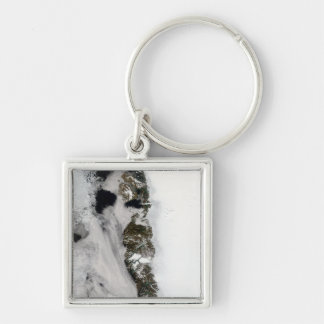 Meltwater ponds along Greenland West Coast Silver-Colored Square Keychain