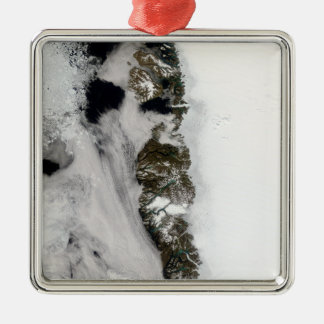 Meltwater ponds along Greenland West Coast Square Metal Christmas Ornament