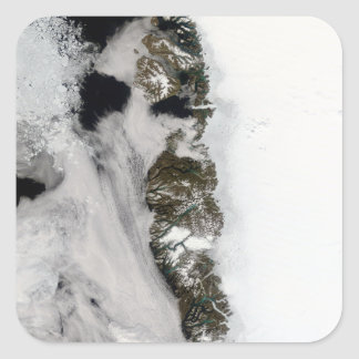 Meltwater ponds along Greenland West Coast Square Sticker