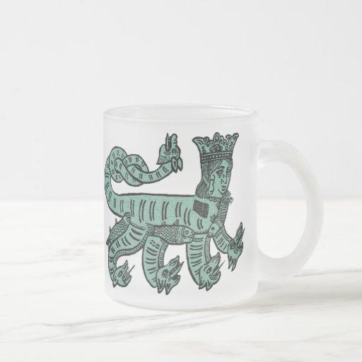 Melusina 10 Oz Frosted Glass Coffee Mug