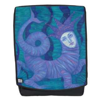 Melusine, Melusina, fantasy, surreal, water spirit Backpack