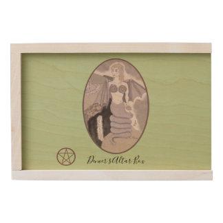 Melusine Serpent Goddess Pagan Witch Change BG. Co Wooden Keepsake Box