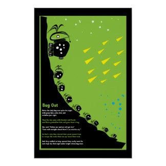 Melva el poster del arte de la colección del insec