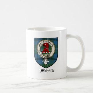 Melville Clan Crest Badge Tartan Coffee Mug