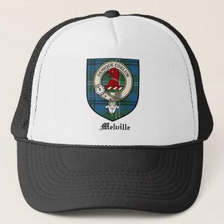 Melville Clan Crest Badge Tartan Trucker Hat