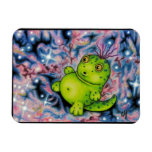 Melvin in Space by Carrie Michael Rectangle Magnet